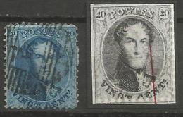 Belgique - Médaillons Dentelés - N°15 - Variété V5 Balasse Griffe - 1863-1864 Medaillen (13/16)
