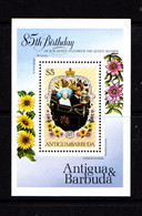ANTIGUA    1985    80th  Birthday  Of  Q E The  Queen  Mother    Sheetlet    MNH - Antigua And Barbuda (1981-...)
