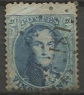 Belgique - Médaillons Dentelés - N°15A - Oblitération LP181 HEYST-OP-DEN-BERGHE - Curiosité Griffes Dans La Marge - 1863-1864 Medallions (13/16)