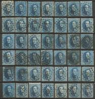 Belgique - Médaillons Dentelés - N°15-15A-15B - 42 Exemplaires - 1863-1864 Medaillons (13/16)