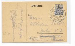 DR GA Privat Postkarte Postwertzeichenausstellung 1922 + SSt. Berlin W62 - Allemagne