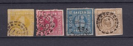 Bayern - 1862 - Michel Nr. 8/11 - Gest. - 95 Euro - Bavaria