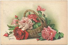 V4140 Fiori Flowers Fleurs - Illustrazione Illustration / Viaggiata 1953 - Fiori