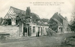 FRANCE - Hazebrouck Bombarde - World War One (La Guerre) - Rue De La Clet - VG Animation Etc - Guerra 1914-18