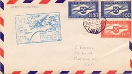 PORTUGAL 1939 AIR MAIL COVER SPECIAL POSTMARK LISBOA    (FEB20983) - Usati