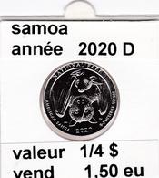 Pieces 1/4 Dollar 2020 D Samoa - EDICIONES FEDERALES