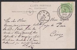 """Armoiries - N°83 Sur CP Vue (Expositon De Bruxelles) Obl """"Bruxelles Tentoonstelling / Bruxelles Exposition B"""" Vers Ciney - 1893-1907 Wapenschild"""