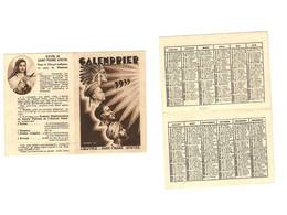 CALENDRIER RELIGIEUX - 1935 - OEUVRE SAINT PIERRE APOTRE - Calendriers