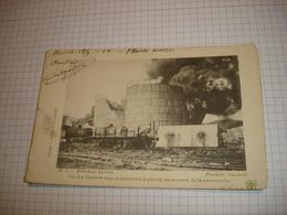 CPA - HOBOKEN ANVERS ANTWERPEN - VUE DES TANKS AU MOMENT DE LA CATASTROPHE - 1904 - Antwerpen