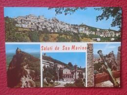 POSTAL POST CARD REPPUBLICA DE DI S. SAN MARINO REPÚBLICA SALUTI EDIZ. EMMEPI RIMINI , DIVERSAS VISTAS, VER FOTO Y DESCR - San Marino