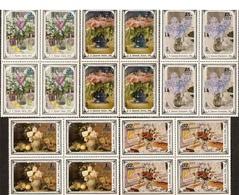 USSR Russia 1979 Block Russian Flower Paintings ART Flowers Vase Painting Fruit Grape Apple Plant Stamps MNH Mi 4886-70 - Art