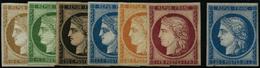 ** N°1F à 8F Les 7 Val - TB - 1849-1850 Cérès