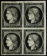 ** N°3a 20c Noir S/blanc, Bloc De 4 - TB - 1849-1850 Cérès