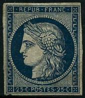 * N°4 25c Bleu, Qualité Standard, Quasi Sans SC - B - 1849-1850 Cérès