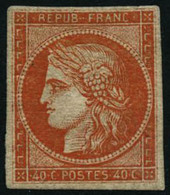 * N°5 40c Orange, Infime Trace De Charnière, Fraicheur Postale - TB - 1849-1850 Cérès