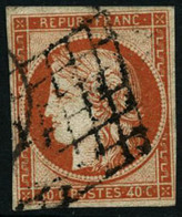Oblit. N°5 40c Orange, Signé JF Brun - TB - 1849-1850 Cérès