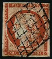 Oblit. N°5 40c Orange, Beau 2ème Choix - B - 1849-1850 Cérès