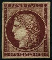 * N°6 1F Carmin, Qualité Standard - B - 1849-1850 Cérès