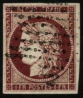 Oblit. N°6 1F Carmin - TB - 1849-1850 Cérès