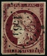 Oblit. N°6 1F Carmin Foncé - B - 1849-1850 Cérès