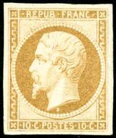 ** N°9e 10c Bistre Jaune, Réimp - TB - 1852 Louis-Napoleon