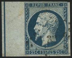 Oblit. N°10b 25c Bleu, BDF Avec Filet D'encadrement - TB - 1852 Louis-Napoleon