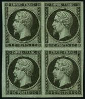 ** N°11 1c Olive, Bloc De 4 - TB - 1853-1860 Napoleon III