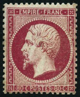 ** N°24 80c Rose - TB - 1862 Napoleone III