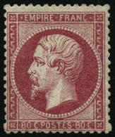 ** N°24c 80c Rose Clair - TB - 1862 Napoleone III