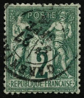 Oblit. N°62 2c Vert - TB - 1876-1878 Sage (Type I)