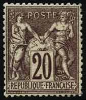 ** N°67 20c Brun-lilas, Pièce De Luxe - TB - 1876-1878 Sage (Type I)