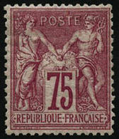 ** N°71 75c Carmin, Signé Calves Et Roumet - TB - 1876-1878 Sage (Type I)