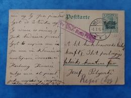 Correspondance De Prisonniers Warschau Varsovie Pologne 1916 - Guerre 1914-18