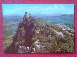 POSTAL POST CARD REPPUBLICA DE DI S. SAN MARINO REPÚBLICA EDIZ EMMEPI RIMINI SECOND AND THIRD TOWER SIGHT FROM THE FIRST - San Marino