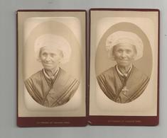 Photographie Cdv Femme Coiffe Maurienne ? Lot 2 Photos Photo Perrot Place Maché Chambéry 73 Savoie - Anciennes (Av. 1900)