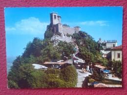 POSTAL POST CARD REPPUBLICA DE DI S. SAN MARINO REPÚBLICA PRIMA TORRE FIRST TOWER PREMIÈRE TOUR EDIZ. LA RIVIERA RIMINI - San Marino