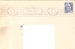 France Haute Garonne Flamme Sur Lettre 1954 TOULOUSE R.P Armée Française Esprit Jeune Technique Moderne - 695 - Marcophilie (Lettres)