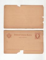 Austria Illiric Croatian Postal Stationery Postcard With Answer Karta-dopisnica Unused, Broken B200215 - Entiers Postaux