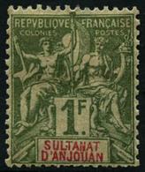 * N°1/13 La Série - TB - Anjouan (1892-1912)