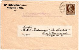"Bayern 1916, EF 3 Pf. Auf Firmen Drucksache Brief ""Lebensmittelfarbe"" V. Kempten - Bayern"