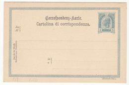 Austria - Italian Postal Stationery Correspondenz Karte Cartolina Di Corrispondenza Unused B200215 - Entiers Postaux