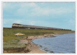 AK- Motiv (004657) Eisenbahn, Insel Sylt, Am Hindenburgdamm, Ungebraucht - Trains