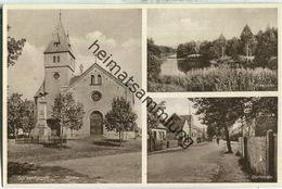 Spreenhagen - Kirche - Dorfstrasse - Verlag Wilhelm Winter - Postkarte 30er Jahre - Spreenhagen