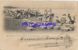 129700 FRANCE HENDAYE THE PORT SARDINE LANDING POSTAL POSTCARD - Francia