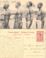 CONGO BELGE. CARTE POSTALE. TYPES BANGALA. ENTIER 10c. 4 11 20. STANLEYVILLE POUR PARIS - Congo Belge