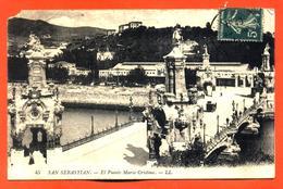 """CPA San Sebastian """" El Puente Maria Cristina """" - Spagna"""