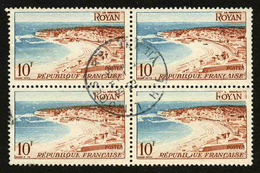 FRANCE - YT 978 - BLOC DE 4 TIMBRES OBLITERES - Used Stamps