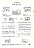 58 Notices Philatéliques (avec 1 Ou 2  Timbres Neufs) + 17 Not. (sans Timbres).....à Voir Spécimen.... - Andorre Français
