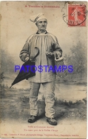 129702 FRANCE NORMANDIE COSTUMES OLD MAN SPOTTED CIRCULATED TO ARGENTINA POSTAL POSTCARD - Francia