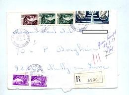 Lettre Recommandée Boissy Le Chatel Sur Daurat Luquet - Marcophilie (Lettres)